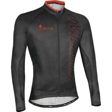 Specialized Authentic Team Jersey Ls W/prot Blk/red