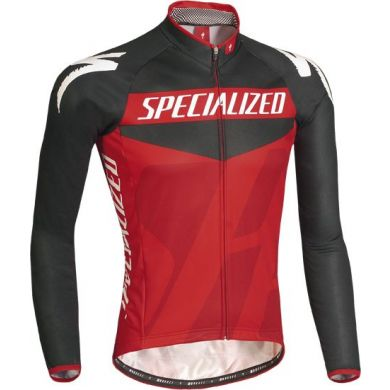 Specialized Pro Racing Jersey Ls Blk/red/bord